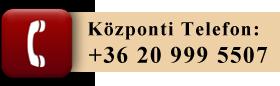 Központi telefonszám: +36 20 999 5507